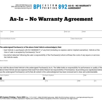as is agreements archives bpi custom printing