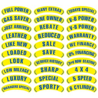 Blue & Yellow Arch Stickers