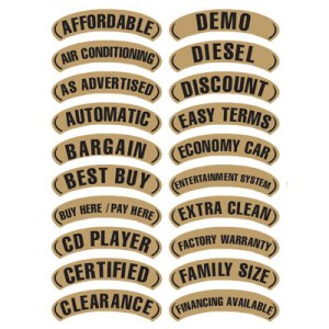 Black & Gold Arch Slogan Stickers