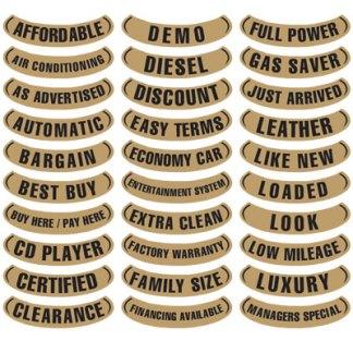 Lower Arch Slogan Stickers