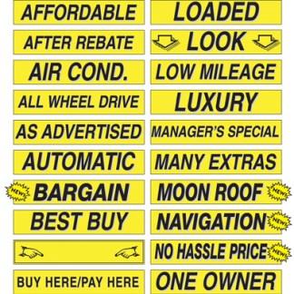 Windshield Slogan Stickers