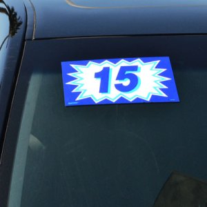 Blue Explosion Windshield Stickers
