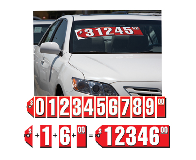 Red Tag Windshield Stickers