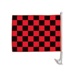 Checkered Clip On Flag