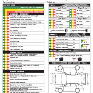 Multi Point Inspection Checklist