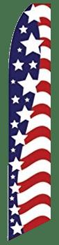 Stars & Stripes Swooper Flag