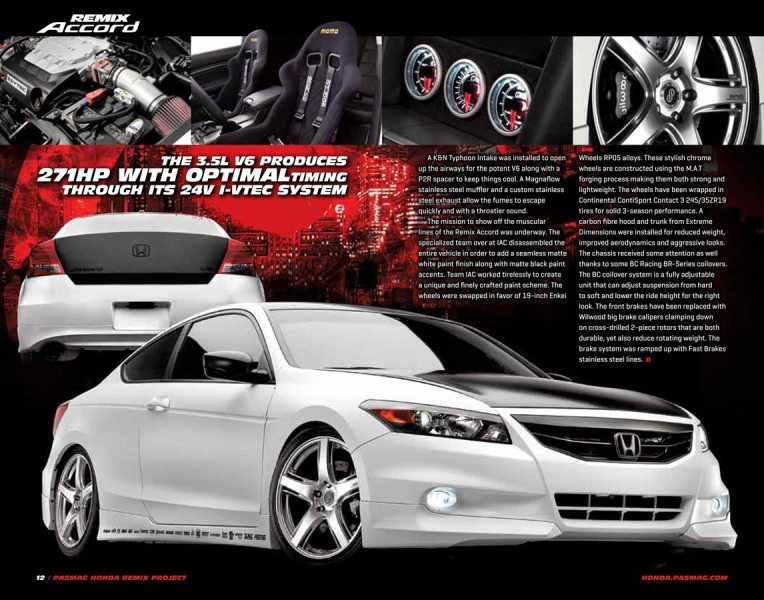 Car Photography   Motorcycles   Trucks   Large Drive in Studio Car Ad Photograph of custom Honda Accord advertisement in Performance Auto    Sound Magazine