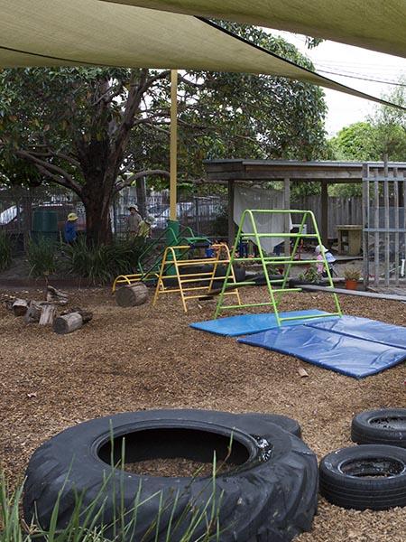North Room outdoor play area at Batman Park Kindergarten.