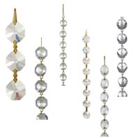 Crystal Bead Chains And Chandelier