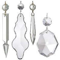 Traditional Clear Lamp Crystals Pendalogues