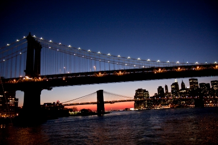 New York's Bridges at Night