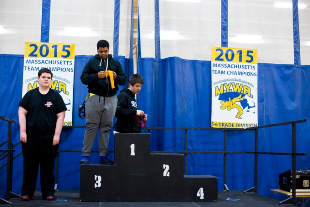 Carlos took the third place for the Massachusetts Youth Wrestling Association Tournament  2015.