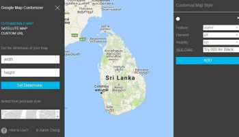 How to capture, print a large Google map - larger than the ... Map Customizer on