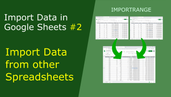import data from one Google Sheet to another