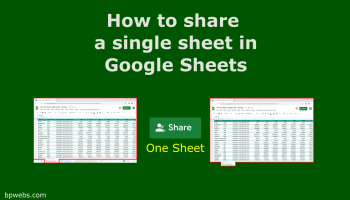 How to share a single sheet in Google Sheets