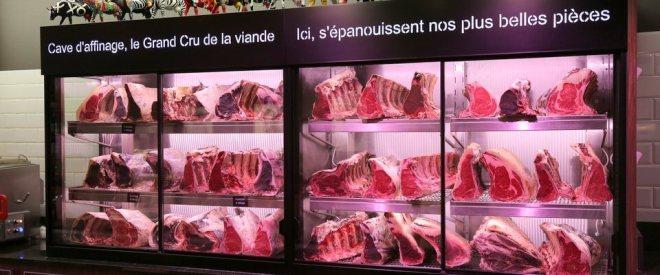 Côte à l'Os : cave de maturation de la viande
