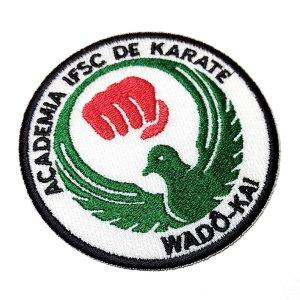 Karate-Do Wado-Kai Patch Bordado Personalizado Para Kimono