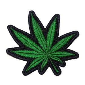 Marijuana Cannabis Medicinal Patch Bordado Para Roupa Camisa