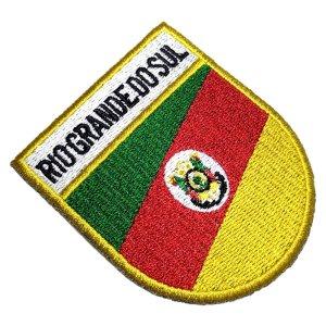 Bandeira Estado Rio Grande do Sul RS Brasil Patch Bordado
