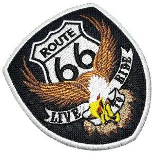Águia Rota 66 EUA Live To Ride Patch Bordado Termo Adesivo