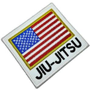 Jiu-Jitsu Bandeira EUA Patch Bordado Termo Adesivo