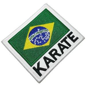 Karatê bandeira Brasil patch bordado passar a ferro costurar