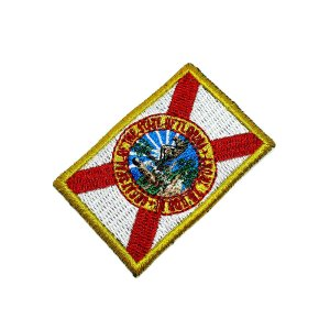 Bandeira Florida EUA Patch Bordada passar a ferro ou costura