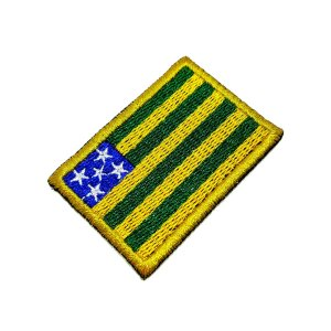 Bandeira Goiás Brasil Patch Bordada passar ferro ou costura