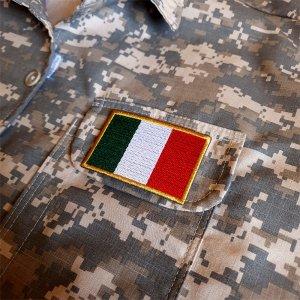 Bandeira país Itália Patch Bordada passar a ferro ou costura