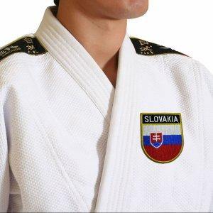 Bandeira país Eslovaquia Patch Bordada passar ferro, costura