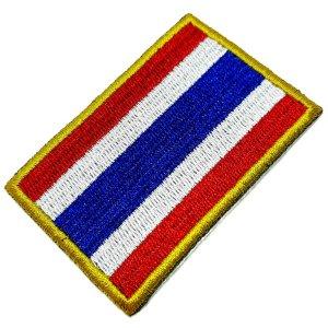 Bandeira Tailândia Patch Bordada, passar a ferro ou costura