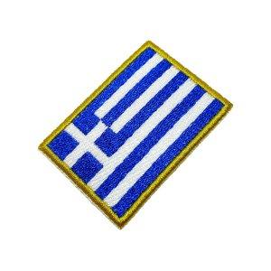 Bandeira país Grécia Patch Bordada, passar a ferro costura