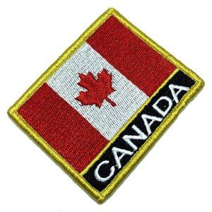Bandeira Canadá Patch Bordada Fecho de Contato Gancho