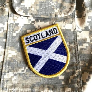 Bandeira Escócia Patch Bordada Fecho Contato Gancho