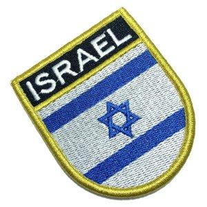 Bandeira Israel Patch Bordada Fecho Contato Gancho