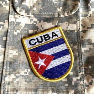Bandeira Cuba Patch Bordada Fecho Contato Gancho