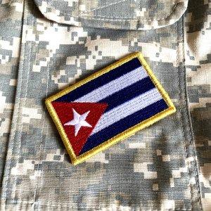 Bandeira Cuba Patch Bordada Fecho de Contato Gancho