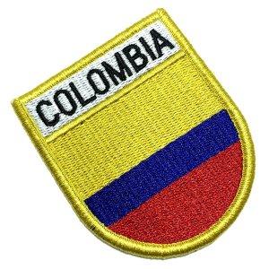 Bandeira Colombia Patch Bordada Fecho de Contato Gancho