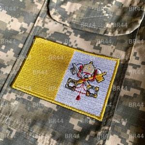Bandeira Vaticano Patch Bordada passar a ferro ou costura