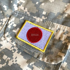 Bandeira Japão Patch Bordada passar a ferro ou costura
