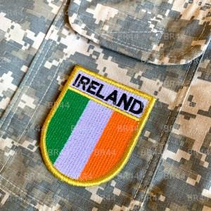 Bandeira Irlanda Patch Bordada Fecho Contato Gancho