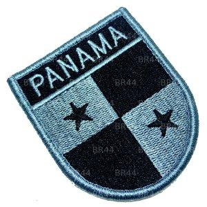 Bandeira Panama Patch Bordada Fecho Contato Gancho