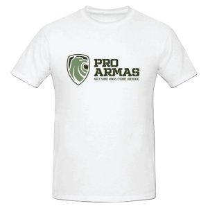 Camiseta Branca Pró Armas Não Sobre Armas, é Sobre Liberdade