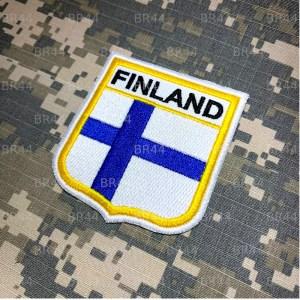 BEIN001 Bandeira Finlandia Patch Bordado Termo Adesivo