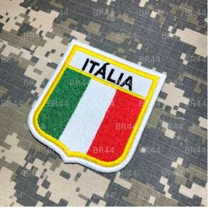 BEIN007 B Bandeira Itália Patch Bordado Termo Adesivo