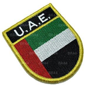 BP0210EV 01 Bandeira U.A.E. Patch Bordada Fecho Contato