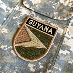 BP0224EV 03 Bandeira Guiana Patch Bordada Fecho Contato