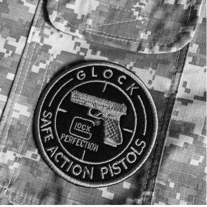 M0094T02 Glock Patch Bordado Termoadesivo Costura