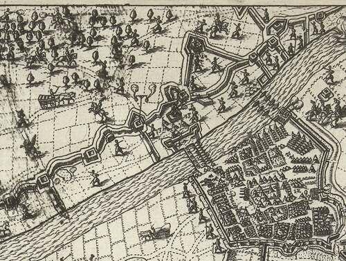 Beleg van Grave schipbrug (bron: Rijksmuseum)