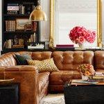 Living Room Inspiration Tan Leather Sofa